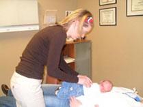 Baby Receiving An Adjustment