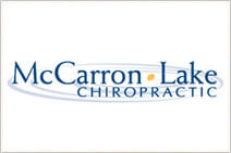 St. Paul McCarron Lake Chiropractic logo with White background and blue font color